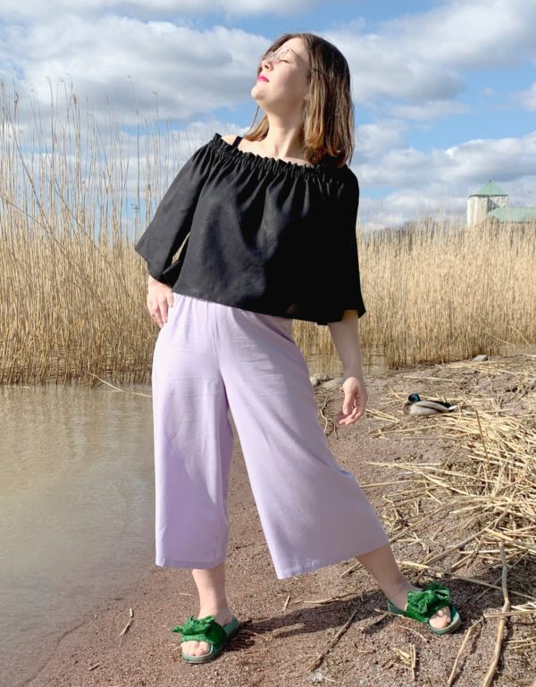 ilmatar culottes in lilac