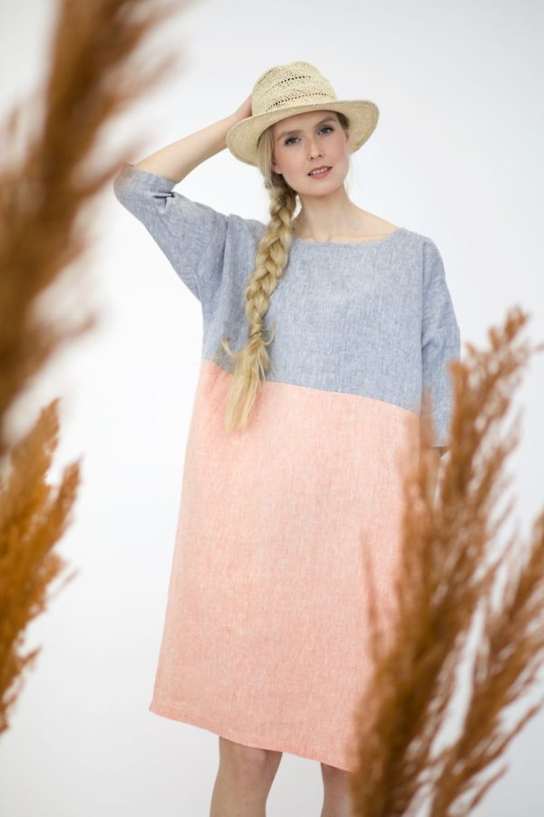 meri dress in linen