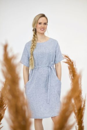 luoto dress in linen