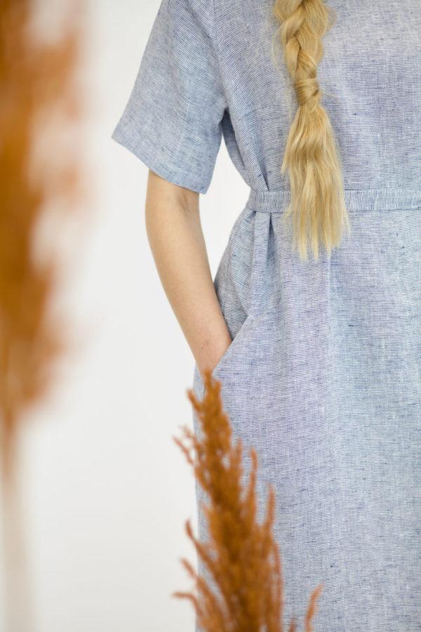 luoto dress in linen