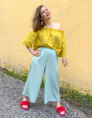 Ilmatar culottes in mint
