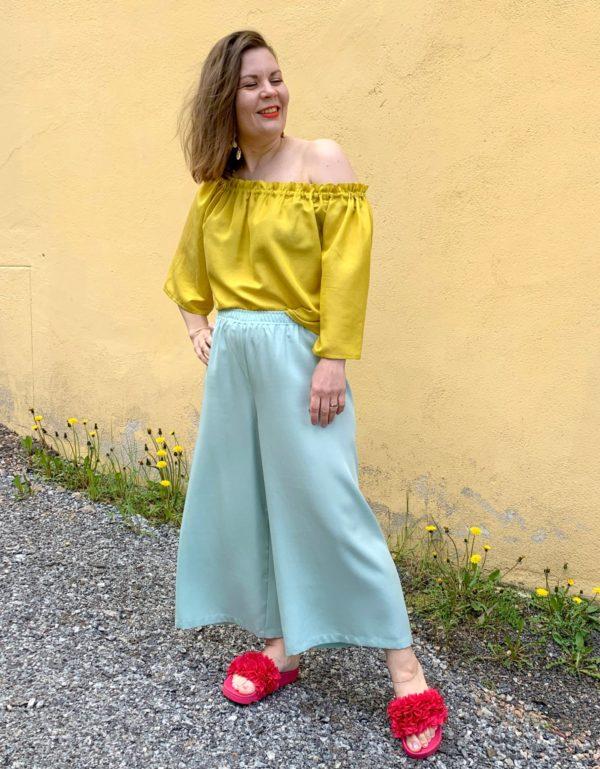 Ilmatar culottes in mint