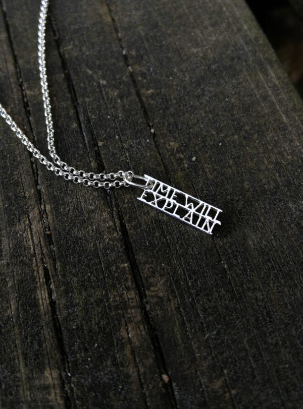 Time will explain necklace