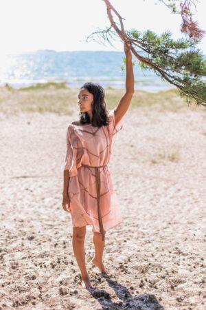 amaranth silk dress