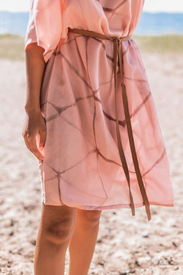 amaranth silk dress