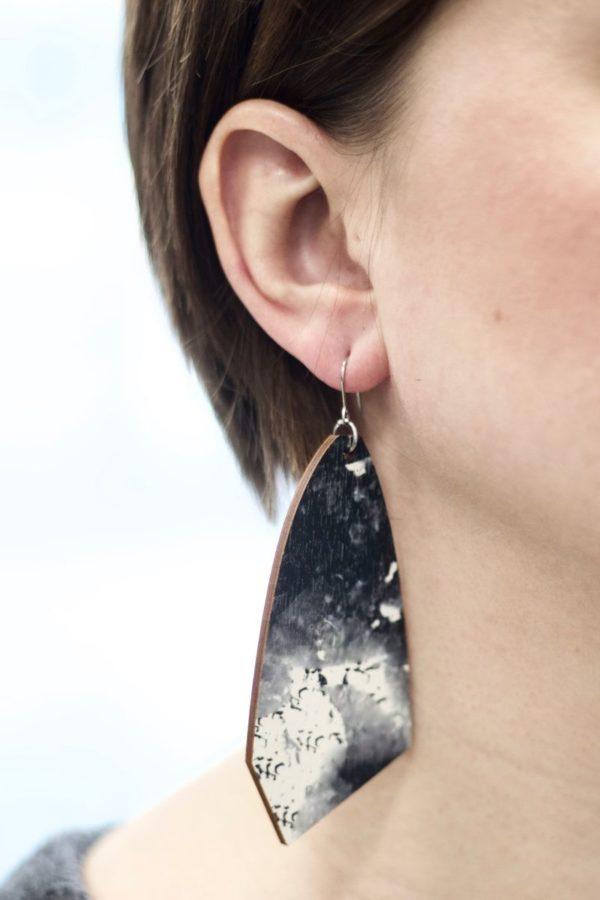 Ink earrings