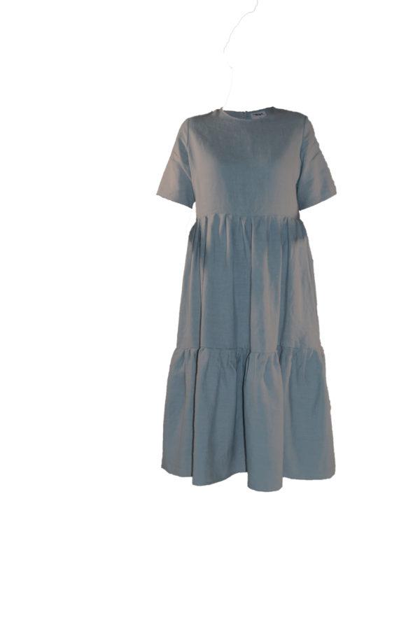laura dress in cloud