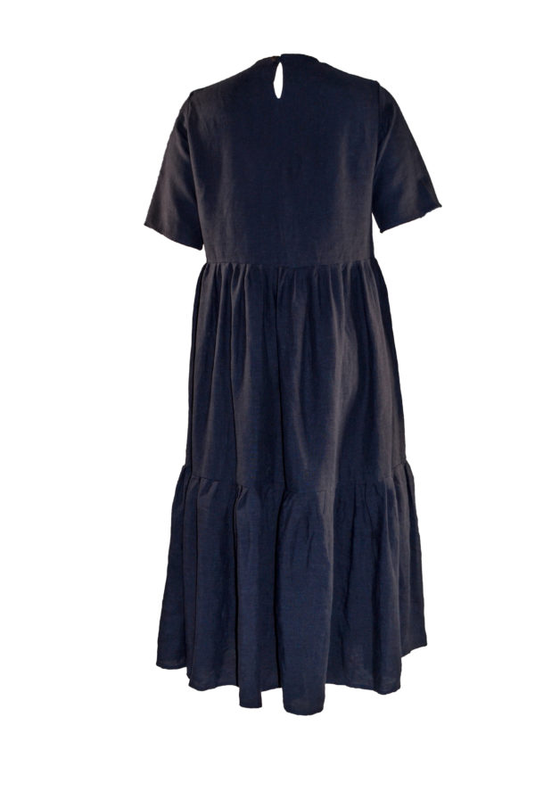 laura dress navy back