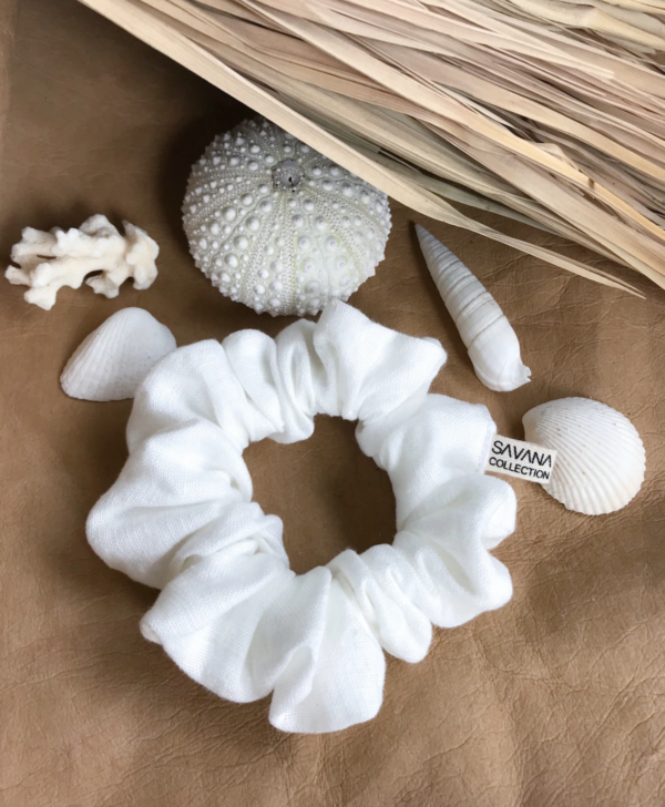 scrunchie linen seashell