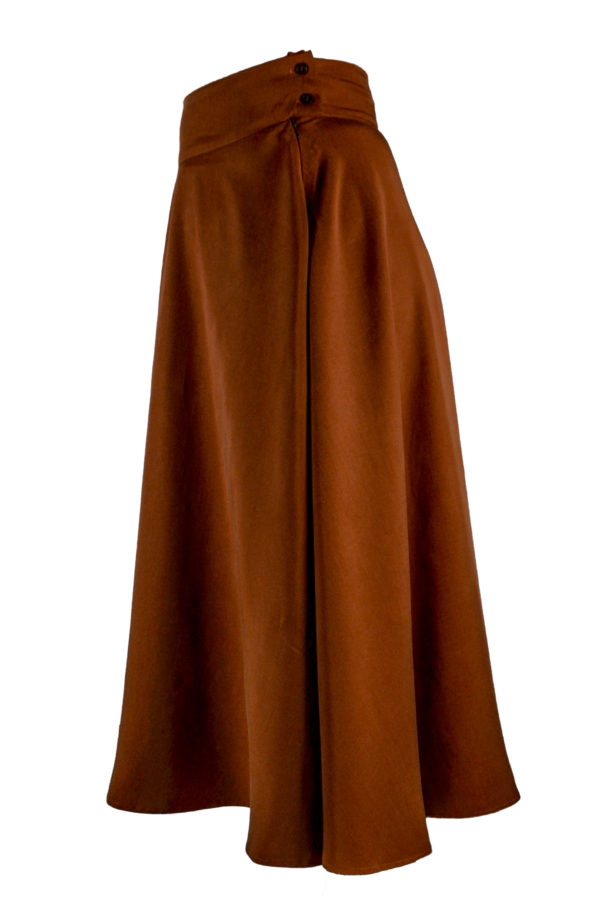 sofia skirt in rust