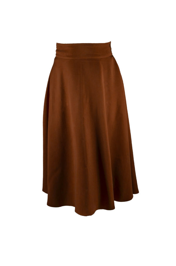 sofia skirt in rust front