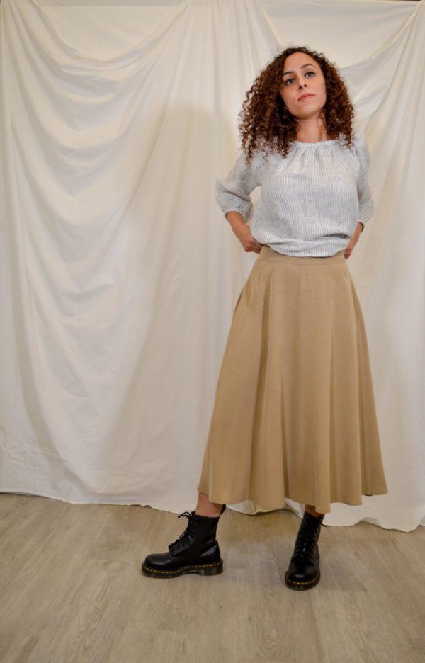 sofia skirt light beige
