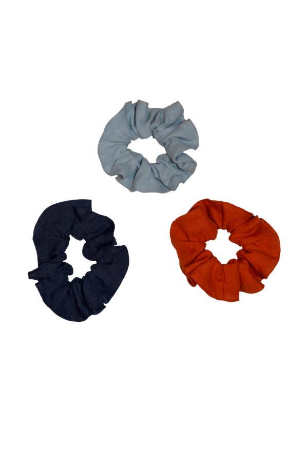linen scrunchie set
