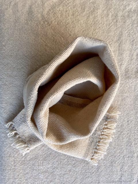 Wool shawl with stripe