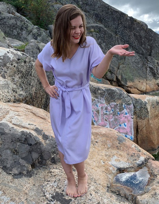 Ilmatar dress in lilac