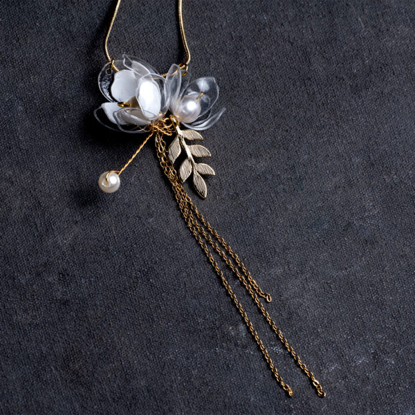 Jasmine Triple Flower Drop Necklace