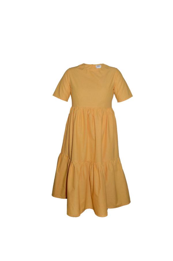 laura dress in yellow
