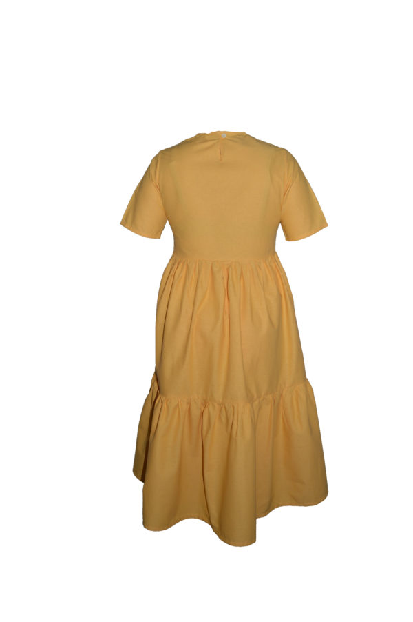 laura dress in yellow back