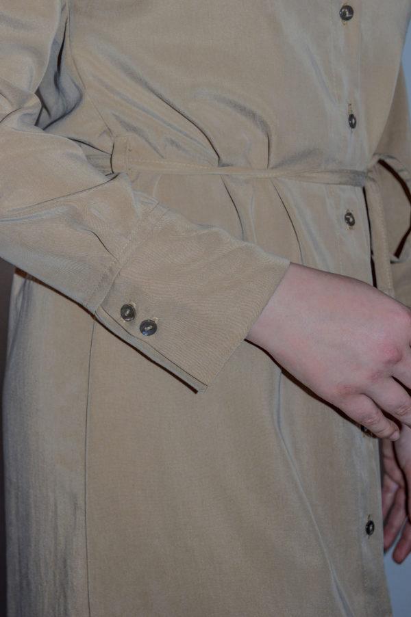 tuula shirtdress in beige detail