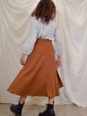 sofia skirt rust back kopio